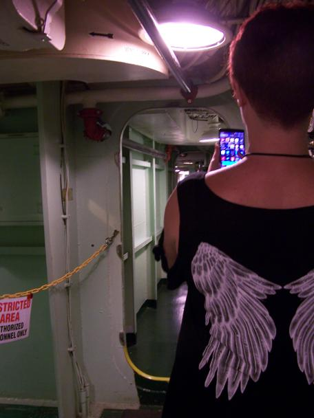 2015, Faye aboard the USS Hornet second deck